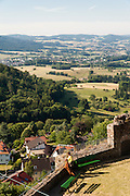 Blick von Burg Lindenfels, Odenwald, Hessen, Deutschland