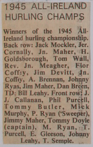 1945 All-Ireland Hurling Champs,