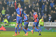 Crystal Palace midfielder Yohan Cabaye celebrates scoring the penalty 0-1 during the The FA Cup Quarter Final match between Reading and Crystal Palace at the Madejski Stadium, Reading, England on 11 March 2016. Photo by Mark Davies.