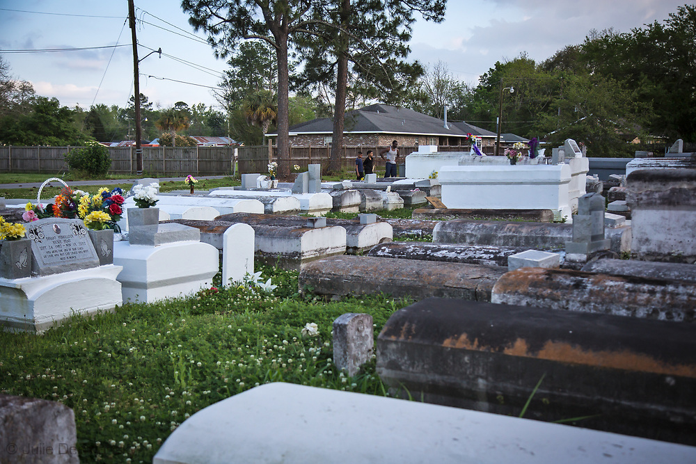Cemetary in Reserve Louisiana, part of St. John the Baptist Parish.