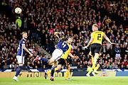 Belgium defender Toby Alderweireld (2) (Tottenham Hotspur) scores a goal 0-3  during the UEFA European 2020 Qualifier match between Scotland and Belgium at Hampden Park, Glasgow, United Kingdom on 9 September 2019.