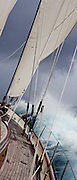 Racing onboard Signe at the Superyacht Cup Regatta.