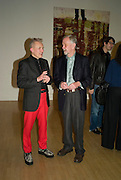 DAVID HARRISON AND  DAVID DOIG, , Private view and dinner for the opening of the Peter Doig exhibition. Tate Britain. Millbank. London. 4 February 2008.  *** Local Caption *** -DO NOT ARCHIVE-© Copyright Photograph by Dafydd Jones. 248 Clapham Rd. London SW9 0PZ. Tel 0207 820 0771. www.dafjones.com.