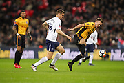 Fernando Llorente of Tottenham Hotspu and Mickey Demetriou of Newport County in action during the The FA Cup fourth round replay match between Tottenham Hotspur and Newport County at Wembley Stadium, London, England on 6 February 2018. Picture by Toyin Oshodi.