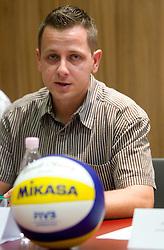 Mitja Kmetec, Beachmaster Ptuj at press conference of Slovenian Beach tour 2011, on June 21, 2011, in Hala Tivoli, Ljubljana, Slovenia. (Photo by Vid Ponikvar / Sportida)