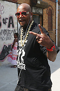 Ed Lover at 205th and Hollis for the official renaming of 205th Street to RUN-DMC JJ Way in Hollis Queens, NY on August 30, 2009..A project of Councilman Leroy Comrie, 205th street in Hollis, Queens was named after the famed Icon Rap Group, RUN-DMC, with special comments made by various community and civic leaders. This renaming marks the first time in the country that a street  is named after a Hiphop Group.