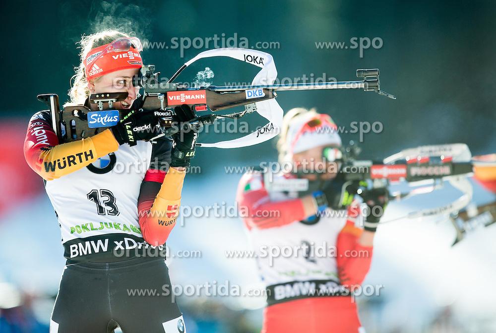 HINZ Vanessa (GER) competes during Women 10 km Pursuit at day 3 of IBU Biathlon World Cup 2014/2015 Pokljuka, on December 20, 2014 in Rudno polje, Pokljuka, Slovenia. Photo by Vid Ponikvar / Sportida