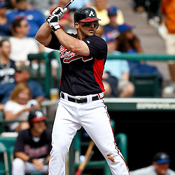 March 5, 2011; Lake Buena Vista, FL, USA; Atlanta Braves second baseman Dan Uggla (26) during a spring training exhibition game against the New York Mets at Disney Wide World of Sports complex.  Mandatory Credit: Derick E. Hingle