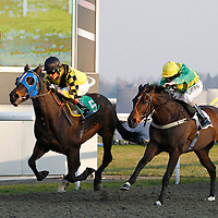 Cantor and Richard Hughes winning the 3.35 race