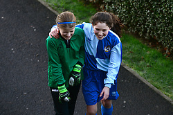 Players smile from Bradley Stoke Community school as they represent Bristol Rovers at the EFL Cup held at South Bristol Sports Centre - Mandatory by-line: Dougie Allward/JMP - 05/01/2017 - FOOTBALL - South Bristol Sports Centre - Bristol, England - EFL Girls Cup