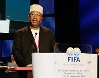 Fotball<br /> FIFA-kongressen i Marrakesch<br /> 12.09.2005<br /> Foto: imago/Digitalsport<br /> NORWAY ONLY<br /> <br /> Salim Tourki (Komorene), Präsident des neu aufgenommenen Fußballverbandes der Komoren, hält im Rahmen des 55. FIFA Kongresses in Marrakesch eine Ansprache