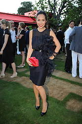 MYLEENE KLASS at the annual Serpentine Gallery Summer party this year sponsored by Jaguar held at the Serpentine Gallery, Kensington Gardens, London on 8th July 2010.  2010 marks the 40th anniversary of the Serpentine Gallery and the 10th Pavilion.