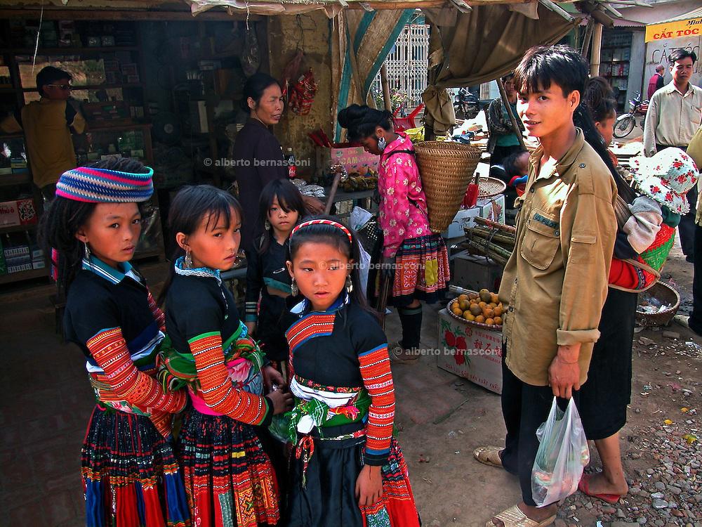 Vietnam,Vietnam, Son La province:  flower mong minorities