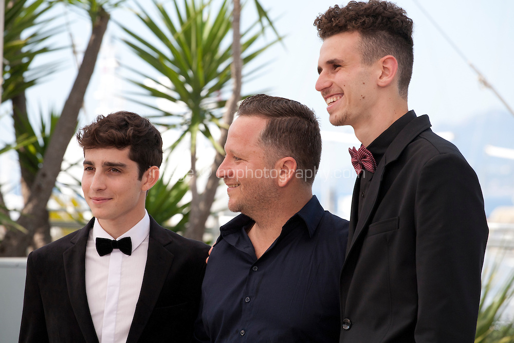 Actors Yoav Rotman, Alon Pdut and  Noam Imber at the TheBeyond The Mountains And Hills film photo call at the 69th Cannes Film Festival Sunday 15th May 2016, Cannes, France. Photography: Doreen Kennedy
