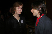 Deborah Swallow and Jeremy Deller, Celebration honouring the arrival of Deborah Swallow, director, Courtauld Institute of Art. Courtauld Gallery. Somerset House. 9 December 2004. ONE TIME USE ONLY - DO NOT ARCHIVE  © Copyright Photograph by Dafydd Jones 66 Stockwell Park Rd. London SW9 0DA Tel 020 7733 0108 www.dafjones.com