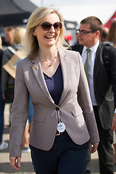 © Licensed to London News Pictures. 13/07/2016. Harrogate UK. MP Liz Truss Secretary of State for Environment visiting the Great Yorkshire show today. The Great Yorkshire show is England's Premier Agricultural event attracting more then 130,000 visitors. Photo credit: Andrew McCaren/LNP