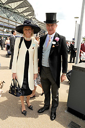 The DUKE & DUCHESS OF ROXBURGHE at the ist day of the 2008 Royal Ascot racing festival on 17th June 2008.<br /><br />NON EXCLUSIVE - WORLD RIGHTS