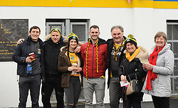 Eddie and Teresa O'Malley with family supporting Louisburgh in Ennis,<br />