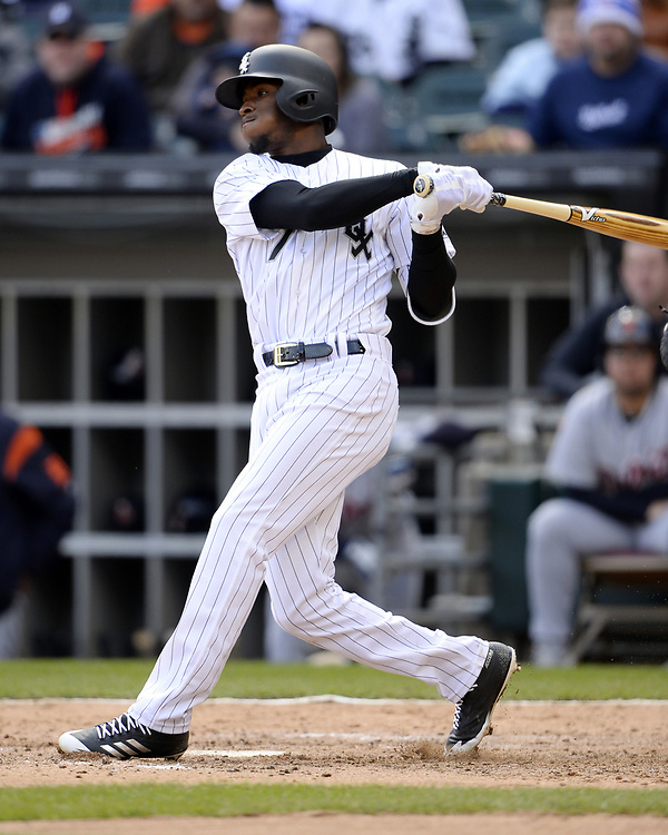 CHICAGO - APRIL 04:  Tim Anderson #7 of the Chicago White Sox bats against the Detroit Tigers on April 04, 2017 at Guaranteed Rate Field in Chicago, Illinois.  The Tigers defeated the White Sox 6-3.  (Photo by Ron Vesely)   Subject:  Tim Anderson