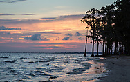 Lake Pontchartrain at sunset. on in St. Tammany, Louisana.
