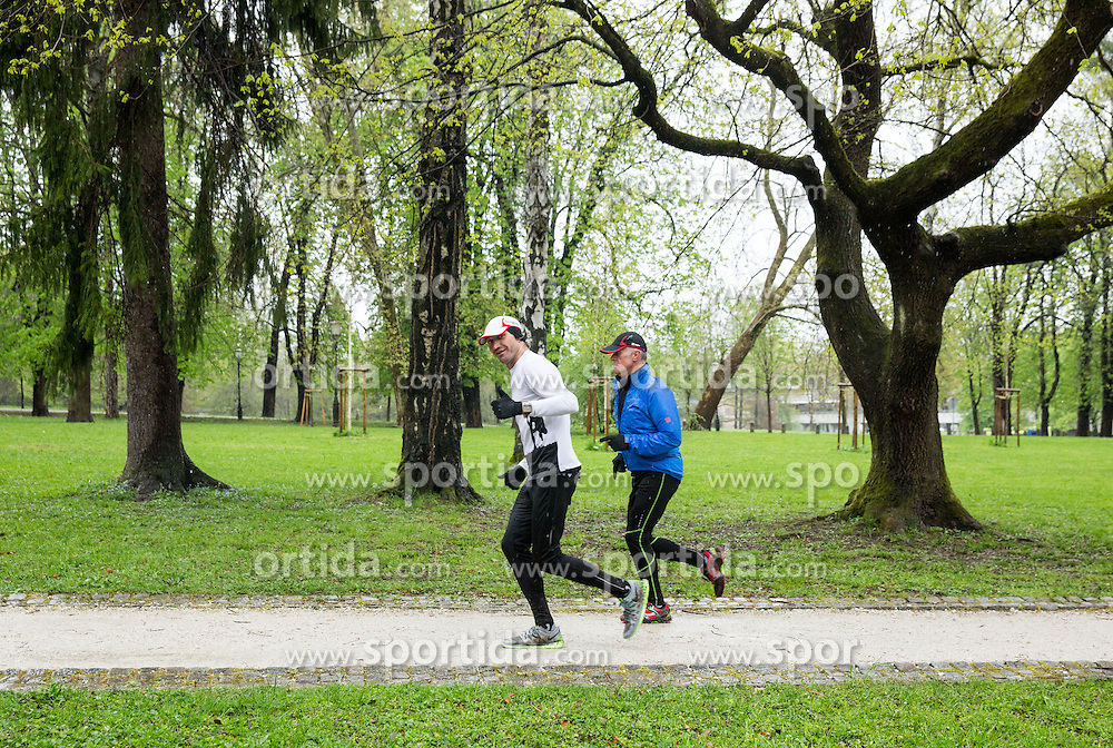 "Runners during 7th charity running event ""Formaraton 2015"", on April 18, 2015 in Tivoli, Ljubljana, Slovenia. Photo by Vid Ponikvar / Sportida"