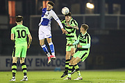 Forest Green Rovers William Davidson(5) heads the ball during the The FA Youth Cup match between Bristol Rovers and Forest Green Rovers at the Memorial Stadium, Bristol, England on 2 November 2017. Photo by Shane Healey.