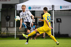 Žan Karničnik of Mura and Tamar Svetlin of Domžale during football match between NŠ Mura and NK Domžale in 30th Round of Prva liga Telekom Slovenije 2019/20, on June 28, 2020 in Fazanerija, Murska Sobota, Slovenia. Photo by Blaž Weindorfer / Sportida