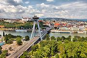 Bratislava, HDR, výhľad na UFO
