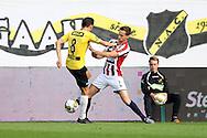 19-05-2016 VOETBAL:NAC BREDA - WILLEM II:BREDA <br /> Freek Heerkens van Willem II in duel met Uros Matic van NAC Breda <br /> <br /> Foto: Geert van Erven