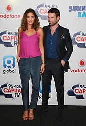 © London News Pictures. Lisa Snowdon & Dave Berry, Capital FM Summertime Ball, Wembley Stadium, London UK, 06 June 2015, Photo by Brett D. Cove /LNP