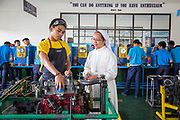Automotive Servicing. Sisters of Mary School, Boystown, Fr. Al Children's Foundation Inc, Cavite, Manila, The Philippines.
