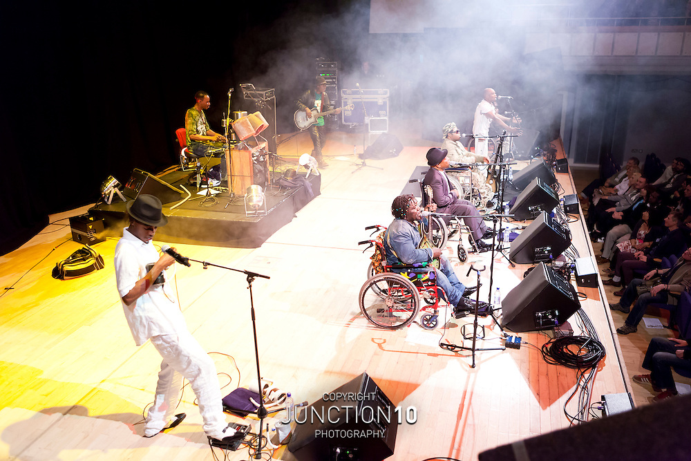 Staff Benda Bilili in concert at the Town Hall - Birmingham, United Kingdom.Picture Date: 14 May, 2011
