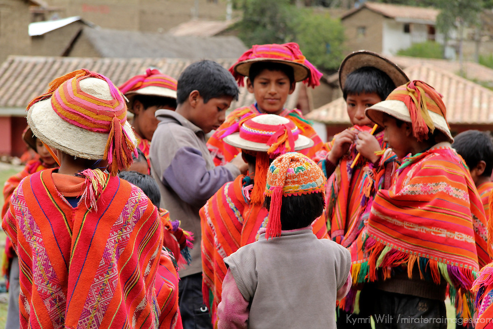 South America, Peru, Willoq. Children of Willoq.
