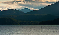 Hood Canal of Puget Sound and south end of the Olympic Mountains Washington USA