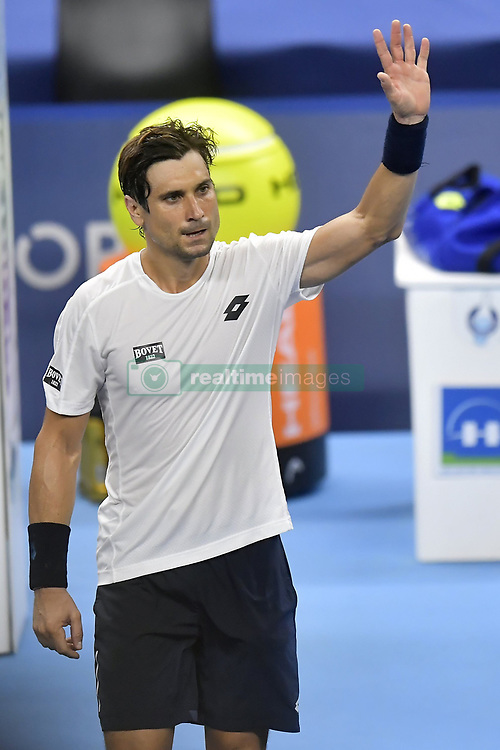 October 19, 2017 - Anvers, Belgique - ANTWERP, BELGIUM - OCTOBER 19 :   David Ferrer (ESP) celebrates the victory after his second round match against Steve Darcis (BEL) on day 5 of the European Open on October 19, 2017 in Antwerp, Belgium, 19/10/2017 (Credit Image: © Panoramic via ZUMA Press)