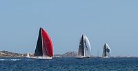 RIBELLE (red spinnaker)Rolex Maxi Cup 2017, Costa Smeralda, Porto Cervo Yacht Club Costa Smeralda (YCCS).