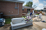 Funeral home in Denham Springs with contents that were flooded in August.
