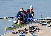 Caversham  Great Britain.<br /> Will SATCH and right George NASH.<br /> 2016 GBR Rowing Team Olympic Trials GBR Rowing Training Centre, Nr Reading  England.<br /> <br /> Tuesday  22/03/2016 <br /> <br /> [Mandatory Credit; Peter Spurrier/Intersport-images]