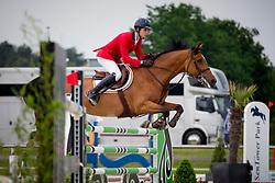 Van Massenhove Jordy, (BEL), Finesse van Sappenleen<br /> Class 16 Nations Cup YR<br /> International Competition CSIO Young Riders Opglabbeek 2016<br /> © Dirk Caremans