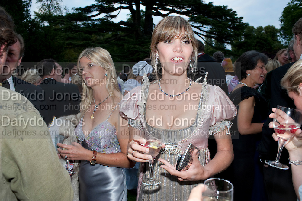 DELFINA BLAQUIER The Goodwood Ball. In aid of Gt. Ormond St. hospital. Goodwood House. 27 July 2011. <br /> <br />  , -DO NOT ARCHIVE-© Copyright Photograph by Dafydd Jones. 248 Clapham Rd. London SW9 0PZ. Tel 0207 820 0771. www.dafjones.com.