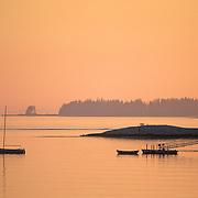 Sunrise in Eggemoggin Reach. Brooklin, Maine