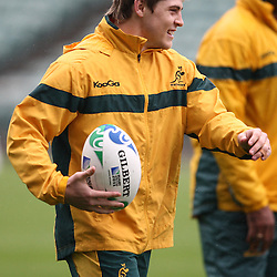 James O'Connor during the Team training - Australia,Wednesday 12 October 2011 Australia training session. North Harbour Stadium Stadium Drive Albany, Auckland.<br />  Photographer Steve Haag