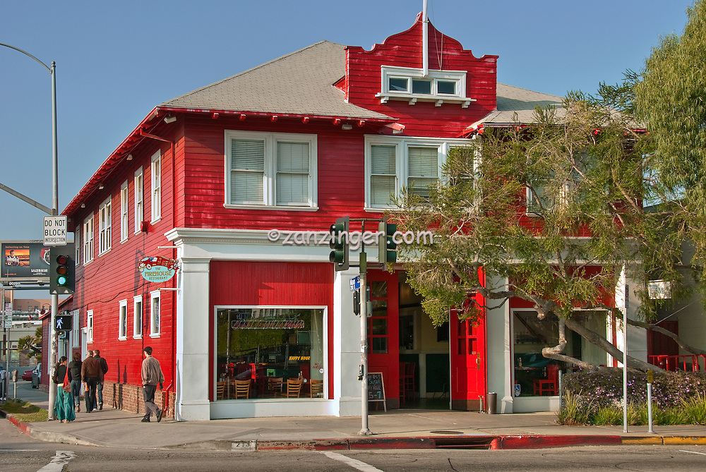 Venice, CA, Firehouse Restaurant, Rose Ave. short walk from Muscle Beach and Gold's Gym,