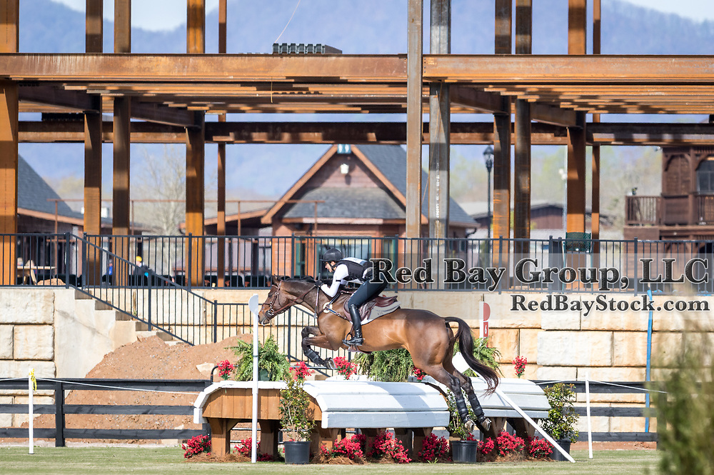 Kathy Cain and Lander at The Fork Horse Trials at the Tryon International Equestrian Center in Mill Spring, North Carolina.