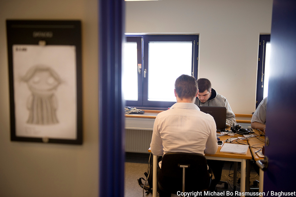 Cand-It, spilprogrammør. Aalborg Universitet, It-Vest. Foto: © Michael Bo Rasmussen / Baghuset. Dato: 08.02.10
