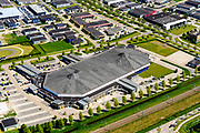 Nederland, Flevoland, Dronten, 07-05-2018; Kunstijsbaan, Leisure World Ice Center.<br /> <br /> luchtfoto (toeslag op standard tarieven);<br /> aerial photo (additional fee required);<br /> copyright foto/photo Siebe Swart