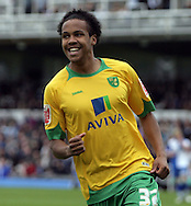 Bristol - Saturday May 1st, 2010: Oli Johnson of Norwich City celebrates scoring his side's second goal during the Coca Cola League One match at The Memorial Stadium, Bristol. (Pic by Mark Chapman/Focus Images)..