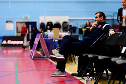 Bristol Flyers head coach Andreas Kapoulas warms up prior to tip off - Photo mandatory by-line: Ryan Hiscott/JMP - 06/12/2019 - BASKETBALL - SGS Wise Arena - Bristol, England - Bristol Flyers v Sheffield Sharks - British Basketball League Championship