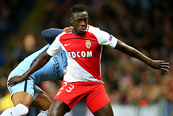 Benjamin Mendy of Monaco wrestles with Fernando of Manchester City - Mandatory by-line: Matt McNulty/JMP - 21/02/2017 - FOOTBALL - Etihad Stadium - Manchester, England - Manchester City v AS Monaco - UEFA Champions League - Round of 16 First Leg