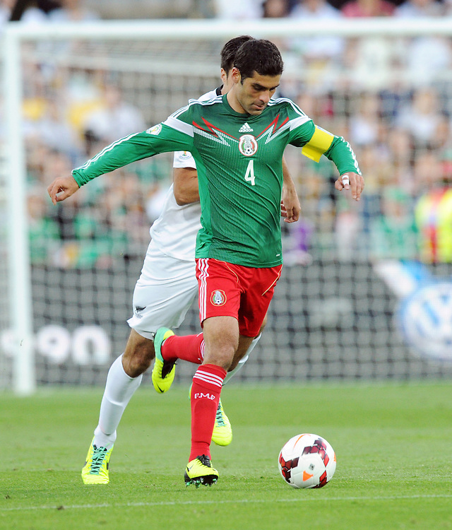 Mexico's Rafael Marquez against New Zealand in the World Cup Football qualifier, Westpac Stadium, Wellington, New Zealand, Wednesday, November 20, 2013. Credit:SNPA / Ross Setford